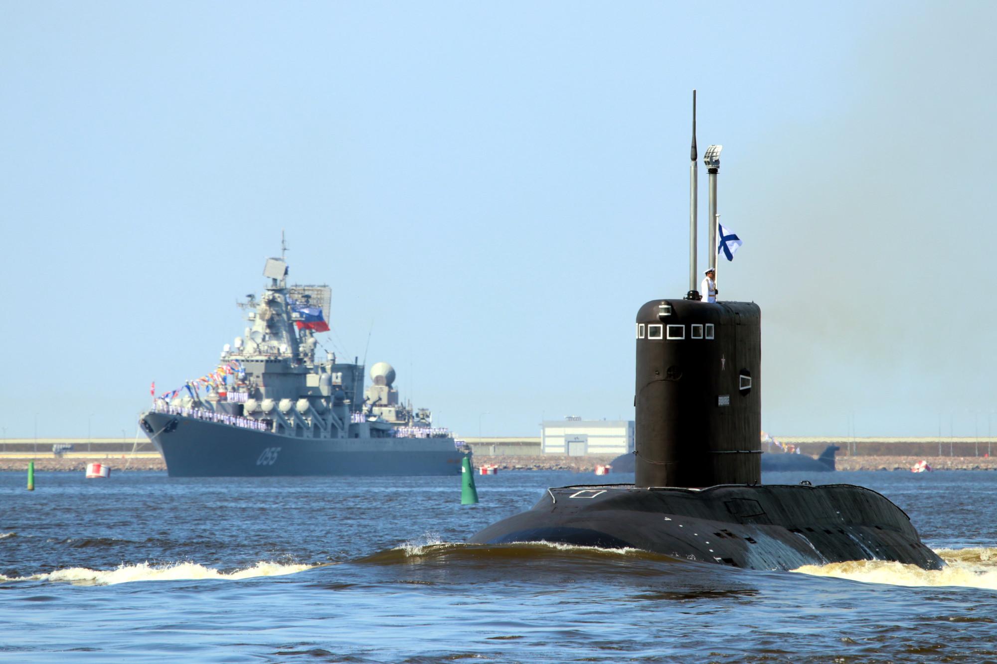 репетиция парада день ВМФ военно-морской флот корабли подводная лодка Владикавказ