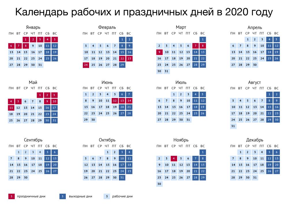 график выходных 2020 год