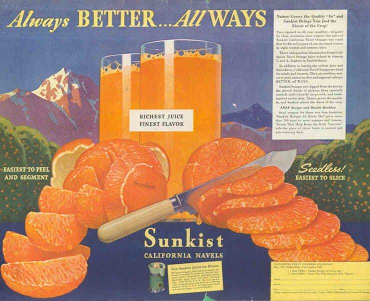 реклама, апельсиновый сок