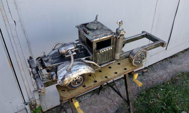 Recycle Art, скульптура, железо, сварщик, машина