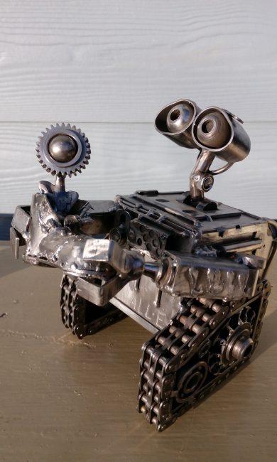 Recycle Art, скульптура, железо, сварщик, валли, робот