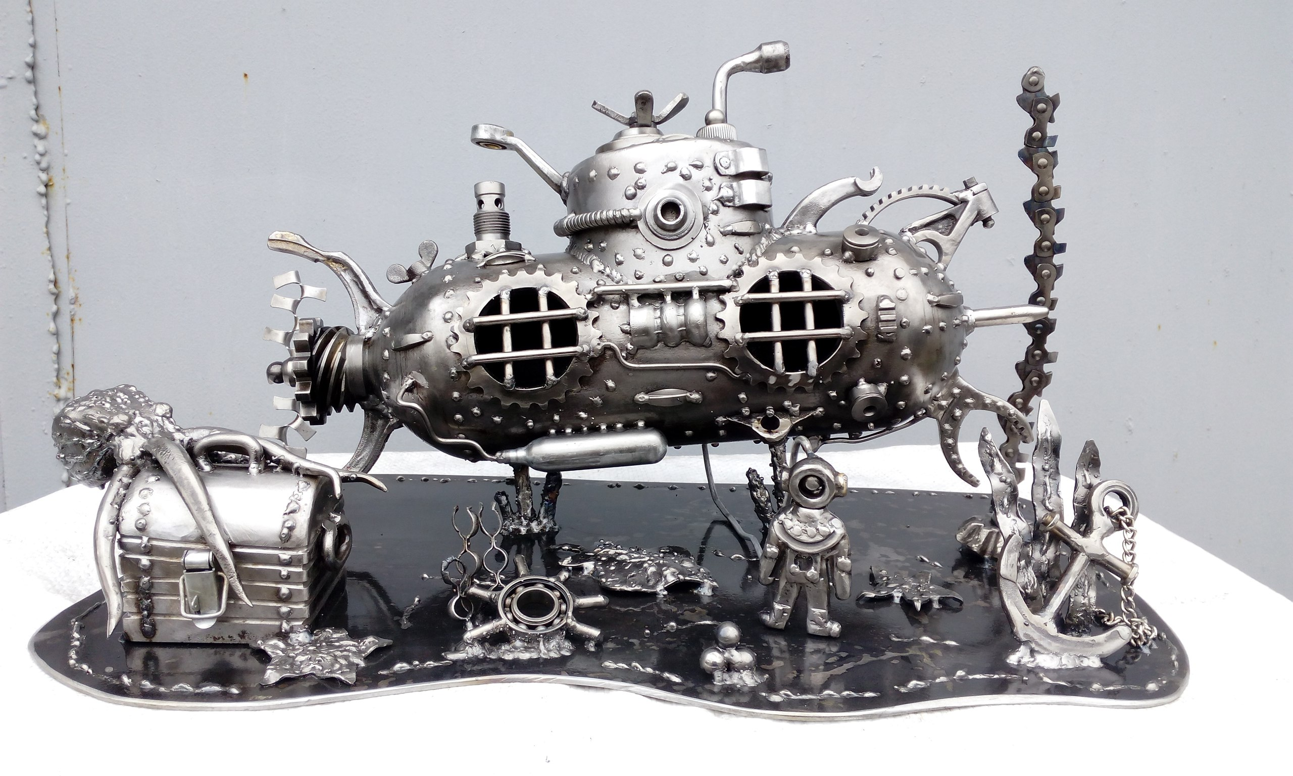 Recycle Art, скульптура, железо, сварщик, субмарина