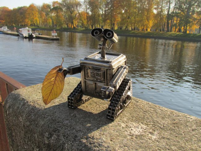 Recycle Art, скульптура, железо, сварщик, валли, робот, осень