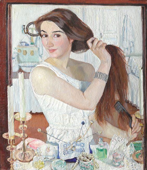 """Зинаида Серебрякова, """"За туалетом"""", автопортрет."""