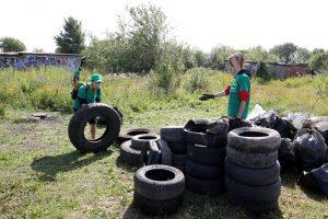 чистые игры экология уборка мусора автопокрышки шины