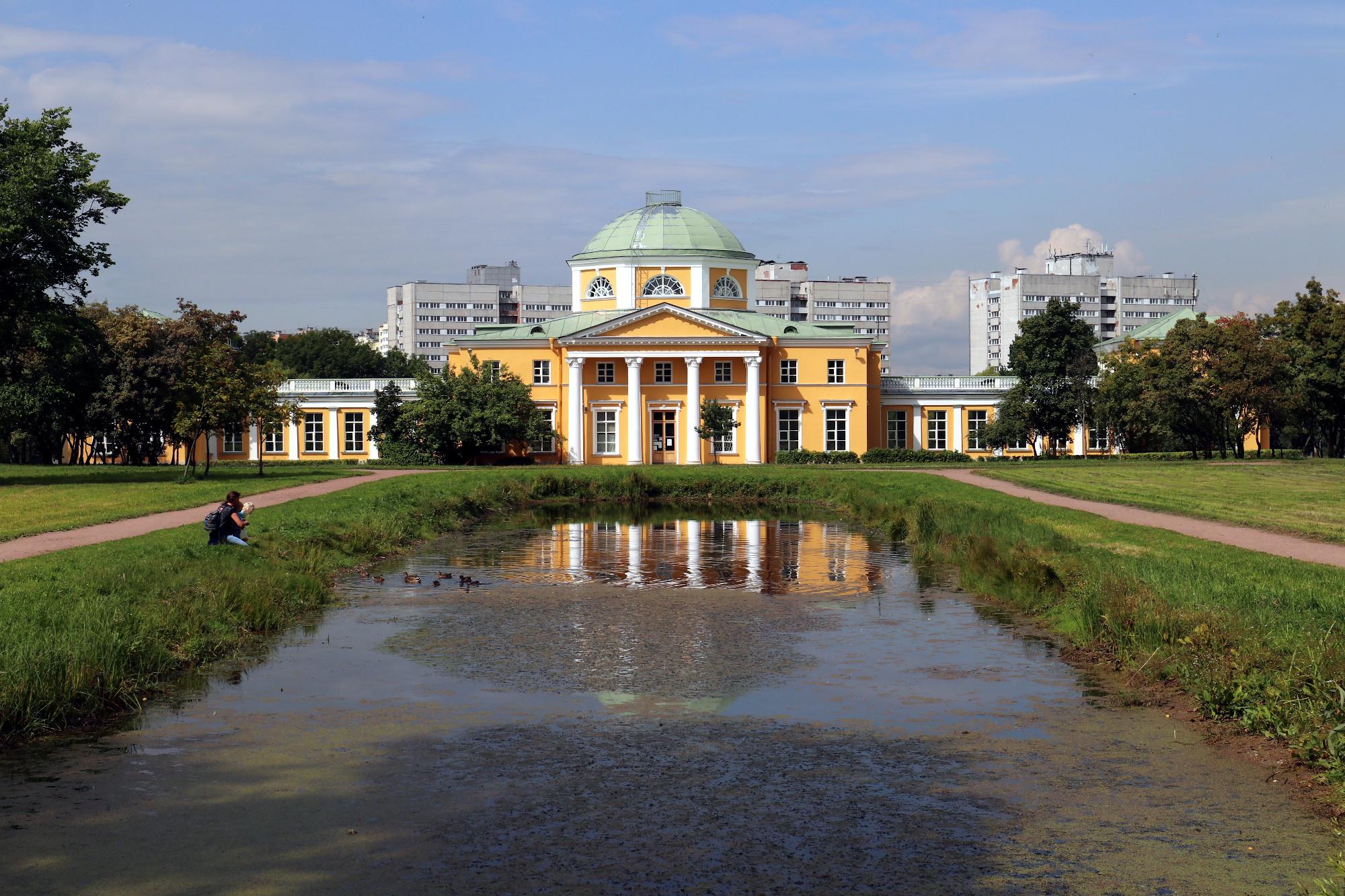 пруд вода парк усадьба Александрино