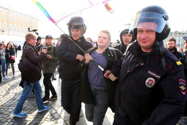 пикет в защиту ЛГБТ задержание