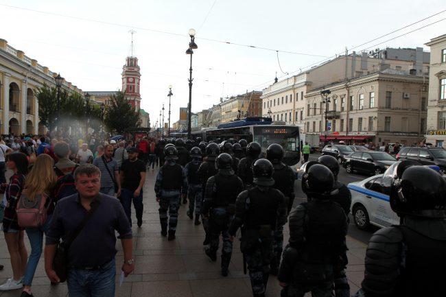 полиция омон пикеты