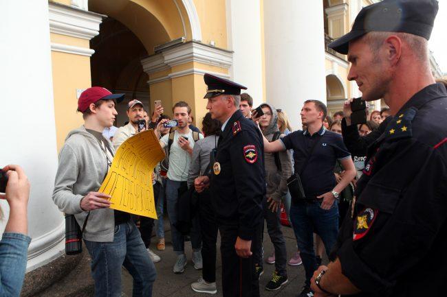 полиция пикеты оппозиция выборы