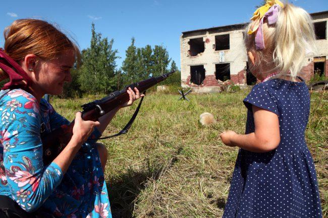 фестиваль За линией фронта реконструкторы Великая Отечественная война дети оружие