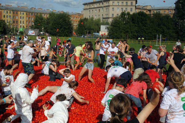томатина томатная битва стадион кировец