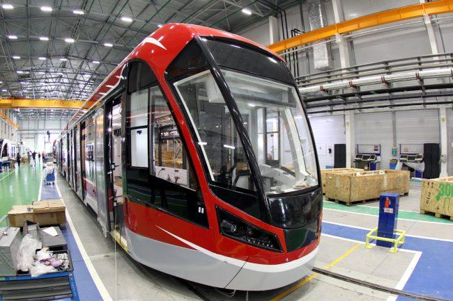 Невский завод электрического транспорта трамвай витязь-м