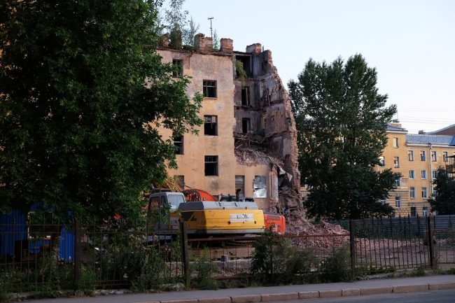 дом Крутикова снос демонтаж