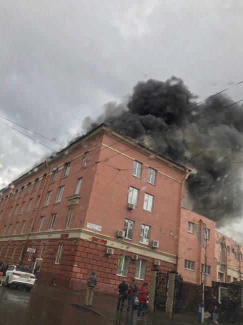 пожар дым огонь