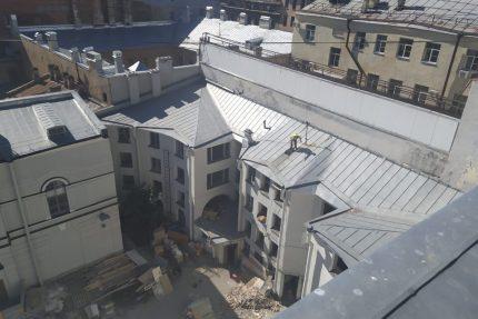 снос западного флигеля шуваловского дворца демонтаж