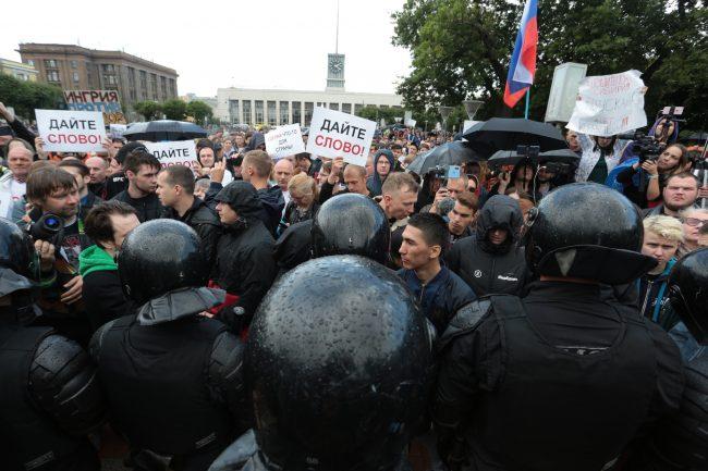 площадь Ленина митинг в поддержку московских кандидатов