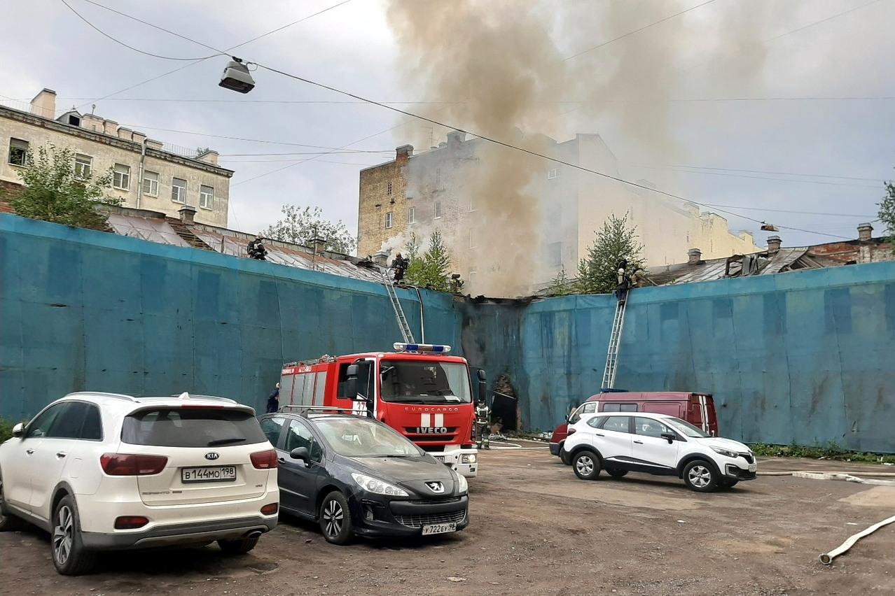 пожар улица Ефимова 4