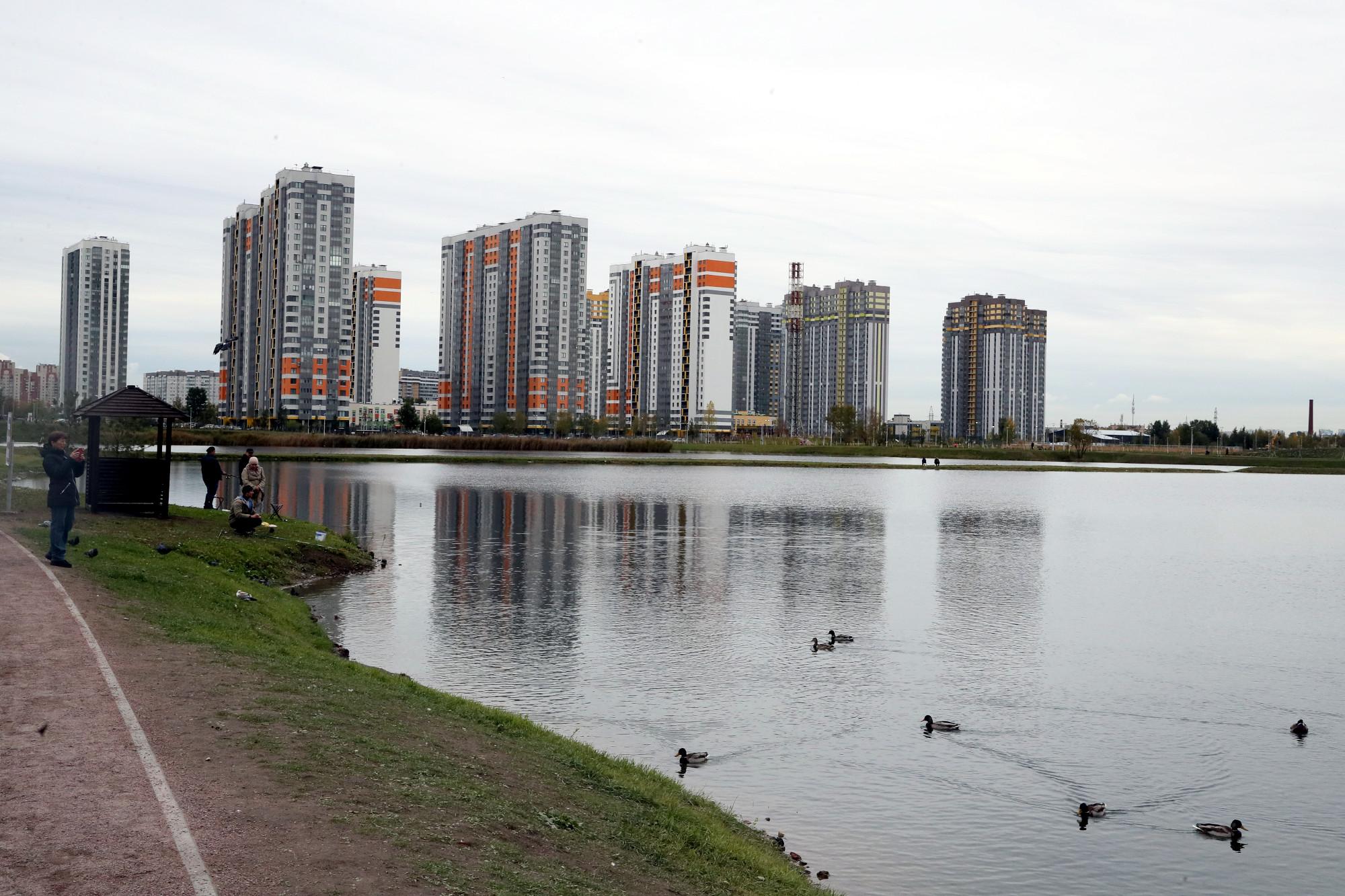 парк Героев-пожарных водоём птицы утки
