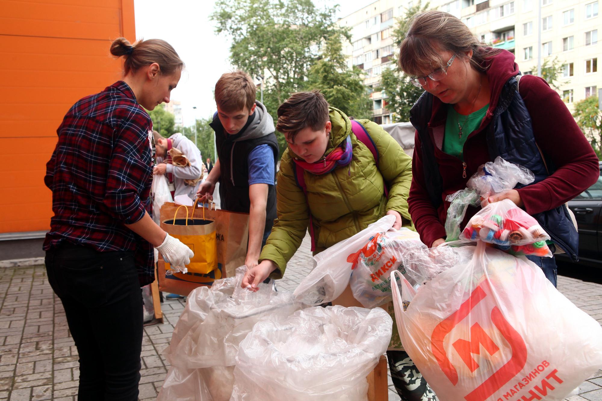 раздельный сбор вторсырьё пластмассовые пакеты мешки