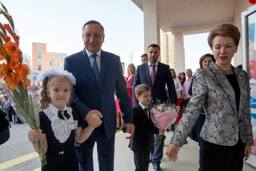 день знаний 1 сентября школа 147 дети школьники ученики Александр Беглов