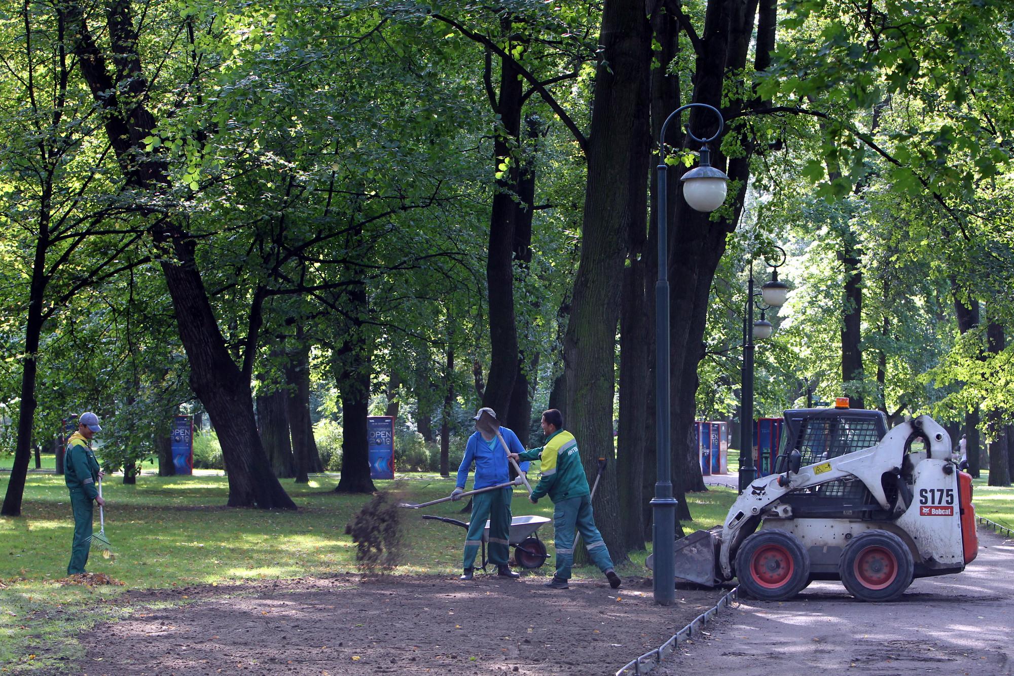Михайловский сад русский музей благоустройство