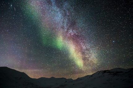 северное сияние ночь небо