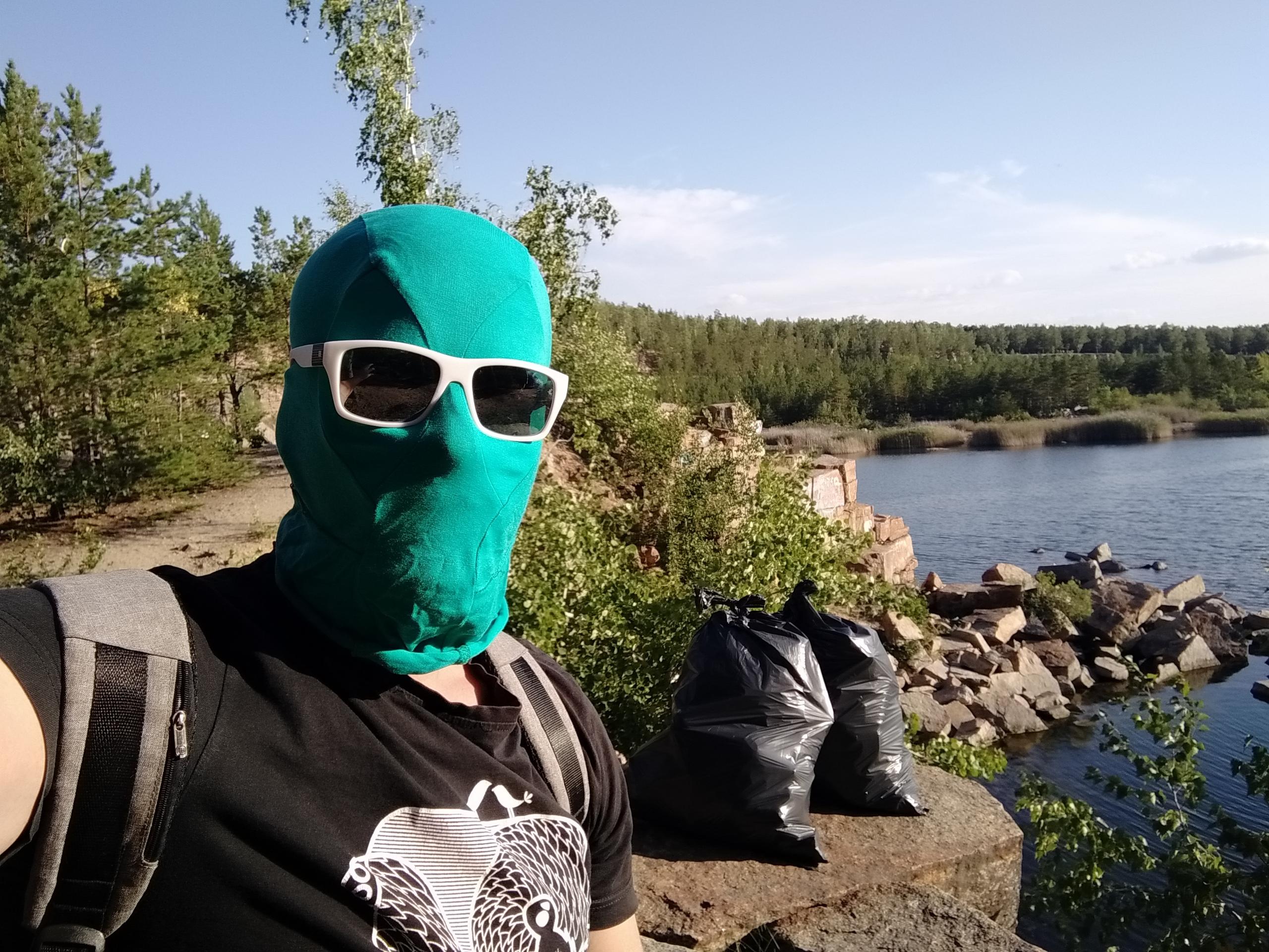 Чистомэн, мусор, активист