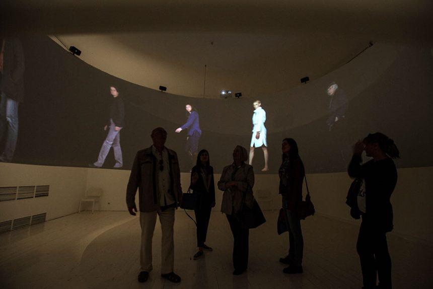 киберфест Alexandra Dementieva (Belgium) Cycloramadrome, interactive video installation, 2014 Tй Alexandra Dementieva, photo by Evgeny Gurko_2