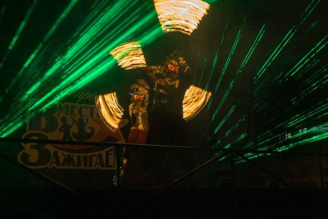 Хэллоуин огненное шоу