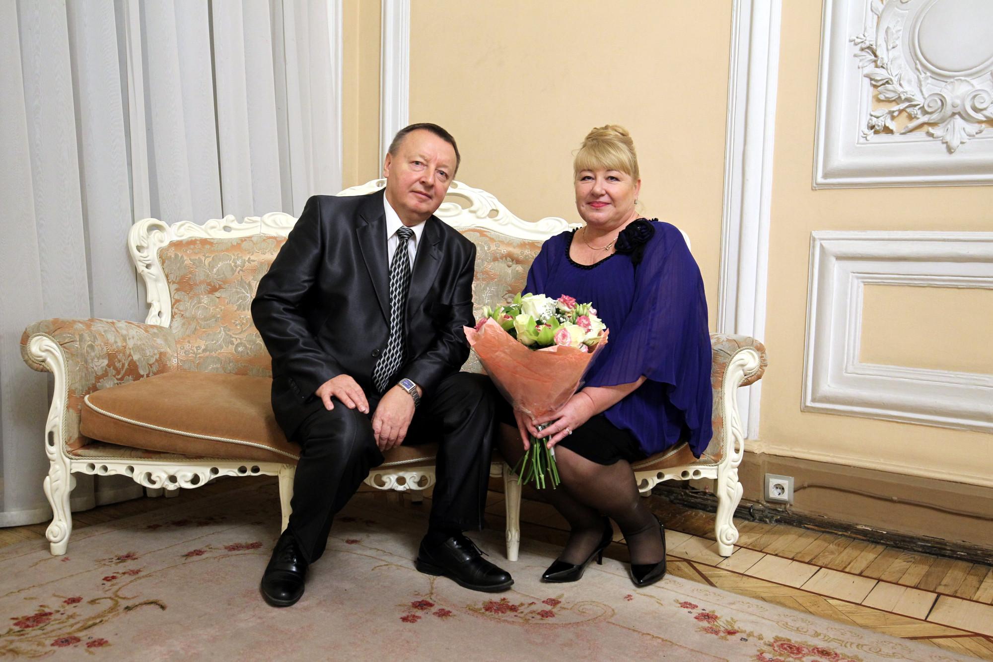 дворец бракосочетаний семейные пары семья Митины