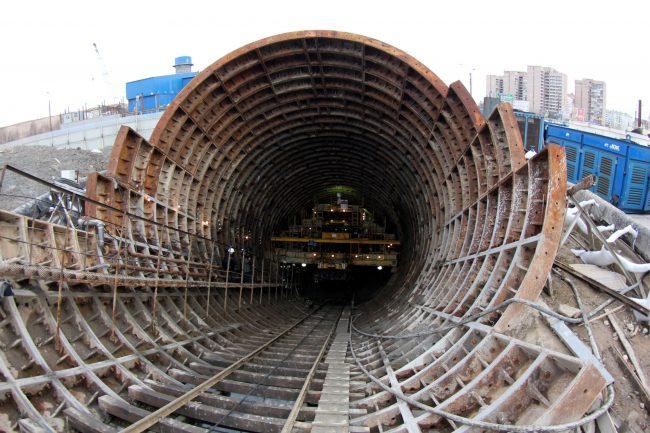 строительство станции метро Казаковская Метрострой