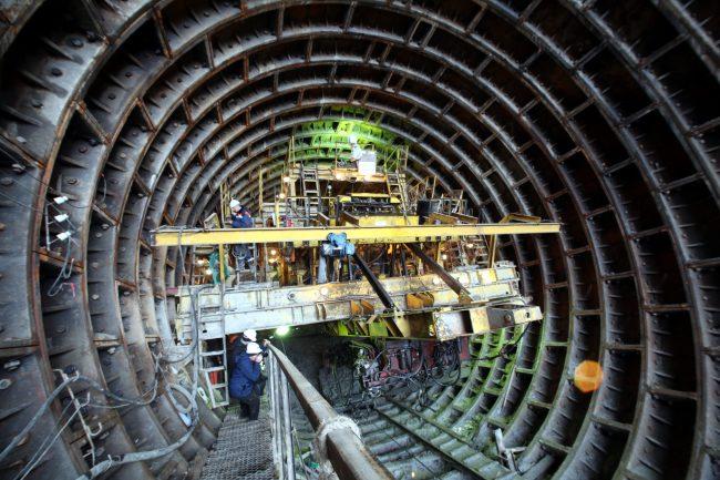 строительство станции метро Казаковская Метрострой рабочие