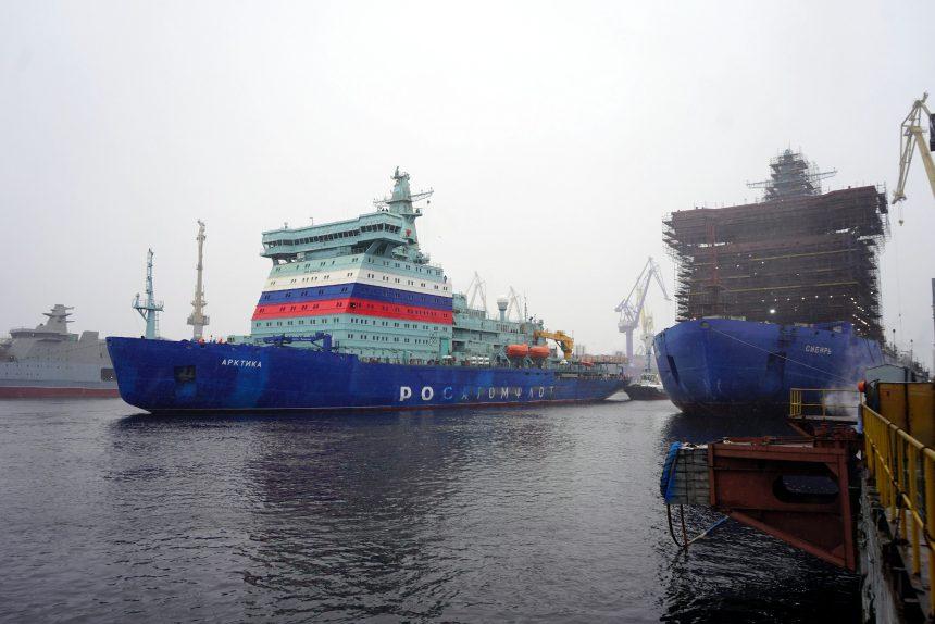 Атомный ледокол «Арктика» завершил первый этап испытаний