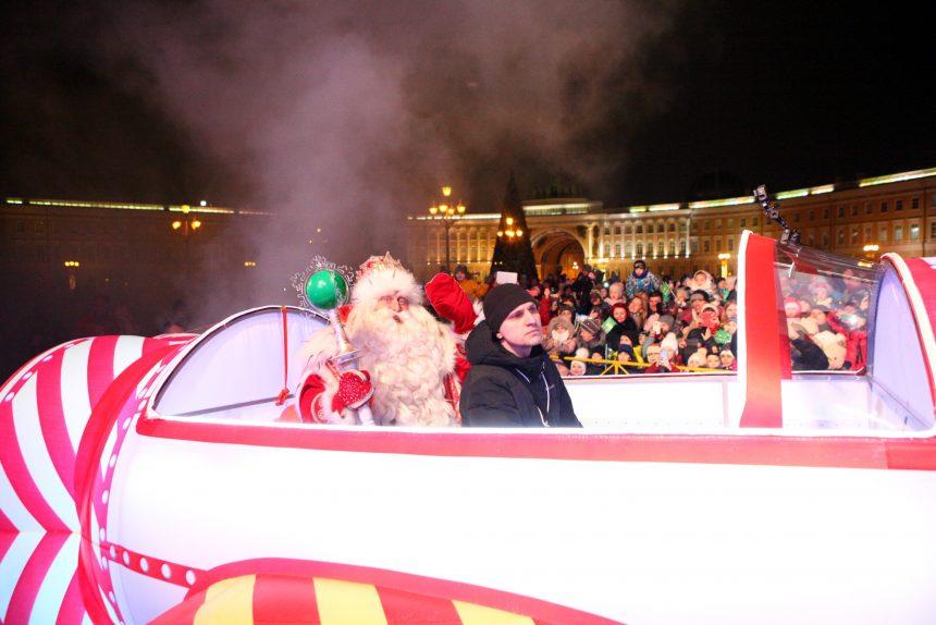 забег Дедов Морозов новогодние праздники новый год