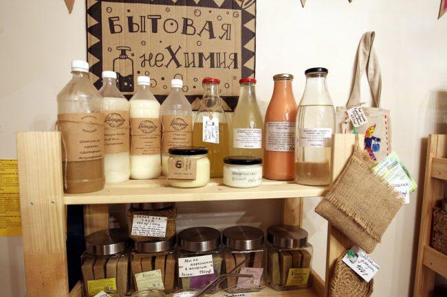 магазин без упаковки экологичный образ жизни торговля шампуни мыло косметика