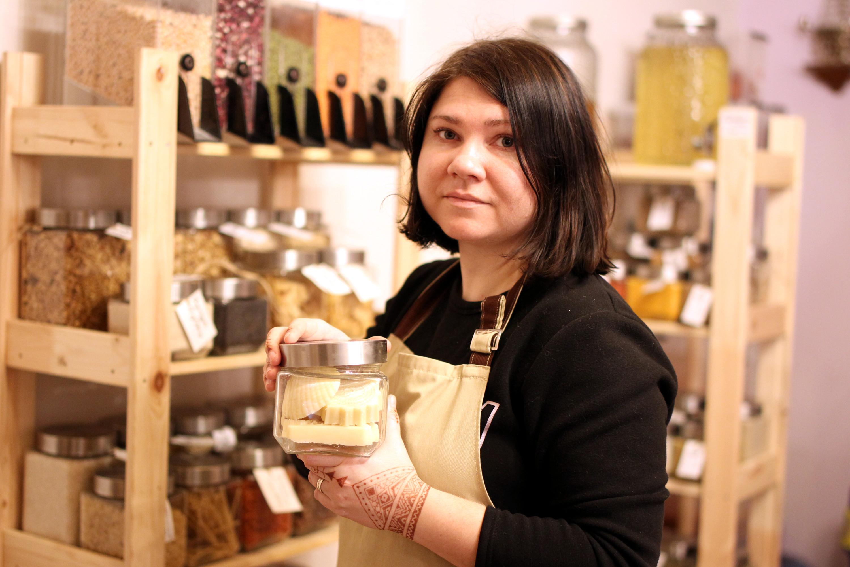 магазин без упаковки экологичный образ жизни торговля сладости продукты