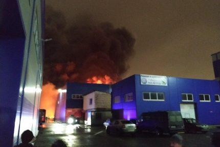 пожар на Салова