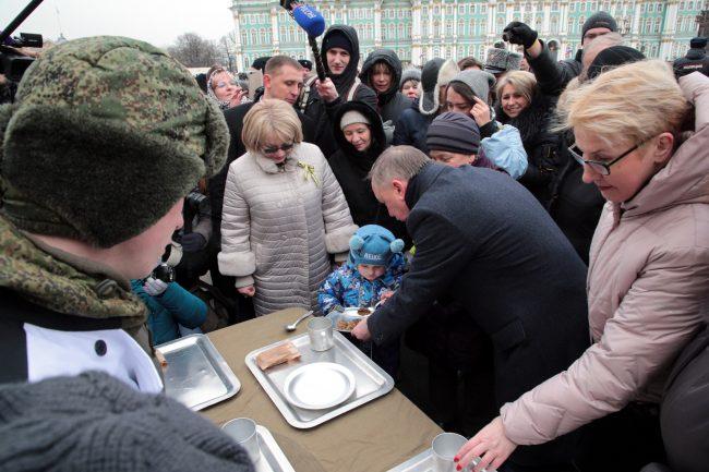 Пискарёвское мемориальное кладбище день освобождения Ленинграда от блокады Александр Беглов гречка