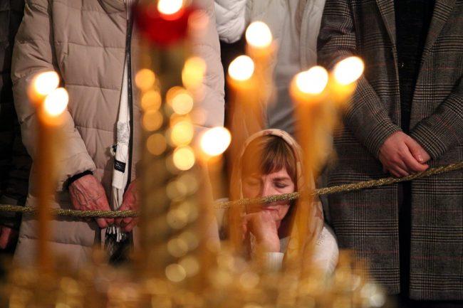 Рождество Казанский собор рождественская служба верующие христиане