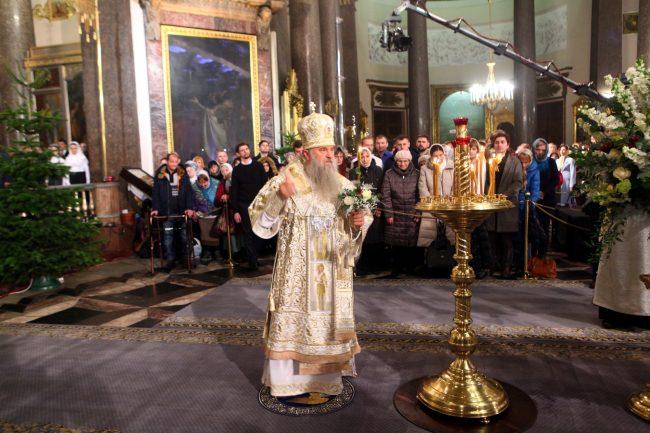 Рождество Казанский собор рождественская служба митрополит Варсонофий