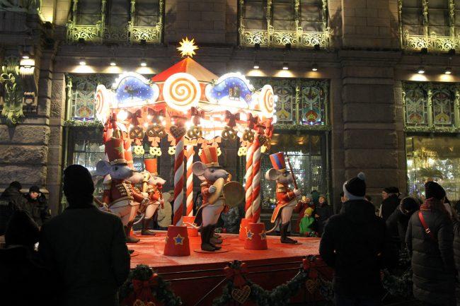 новый год новогодняя ночь гуляния Малая Садовая улица рождественская ярмарка
