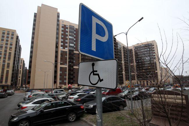 Мурино новостройки жилые дома парковки стоянка автомобили инвалиды