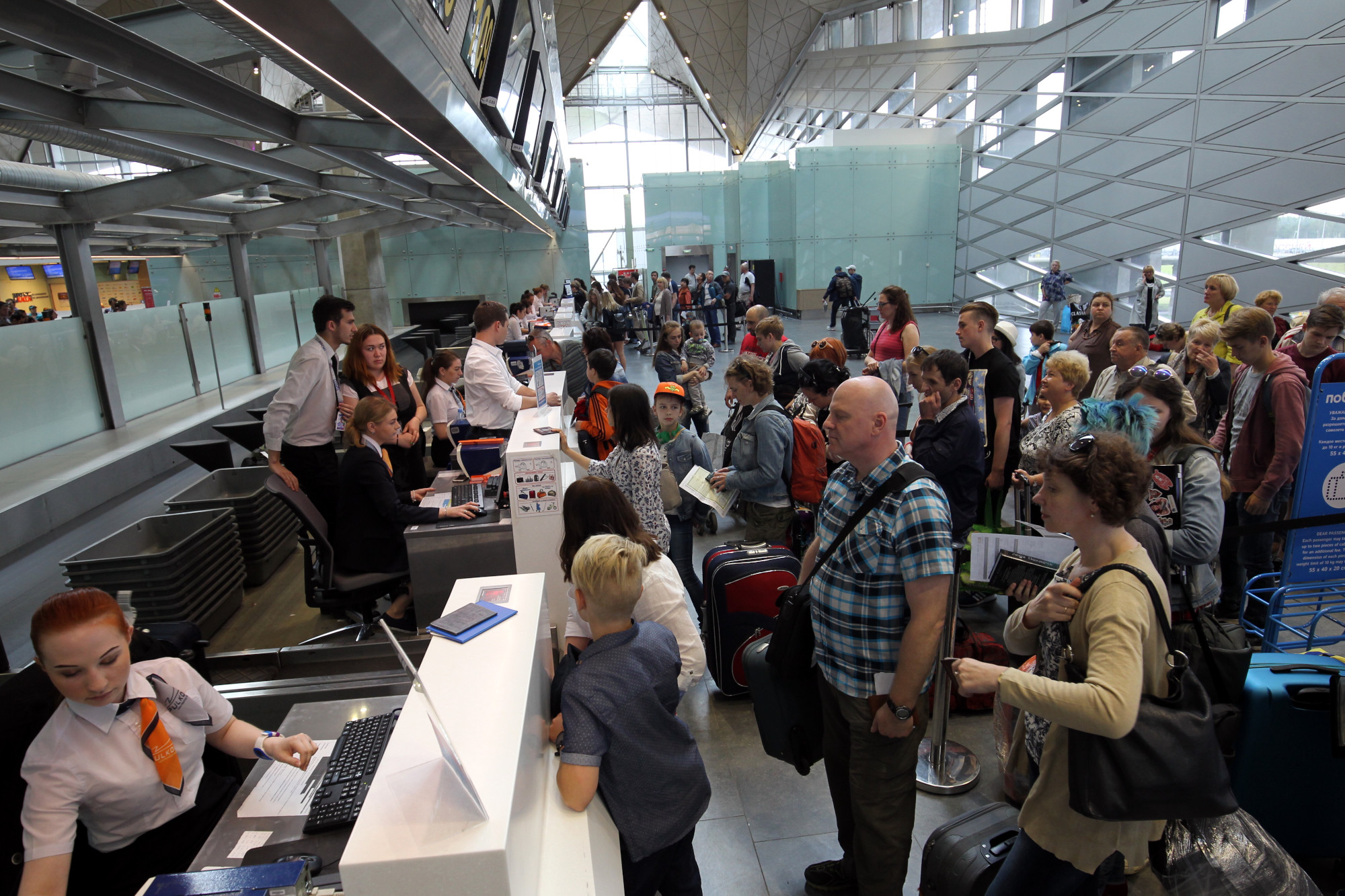 аэропорт Пулково стойки регистрации