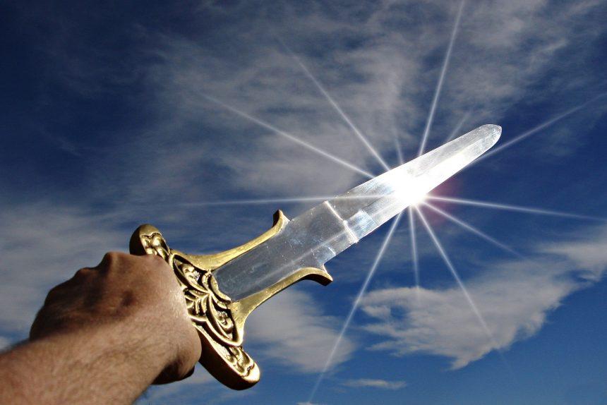 меч оружие лезвие небо