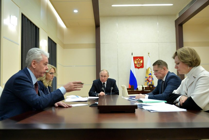 Владимир Путин, совещание по борьбе с коронавирусом