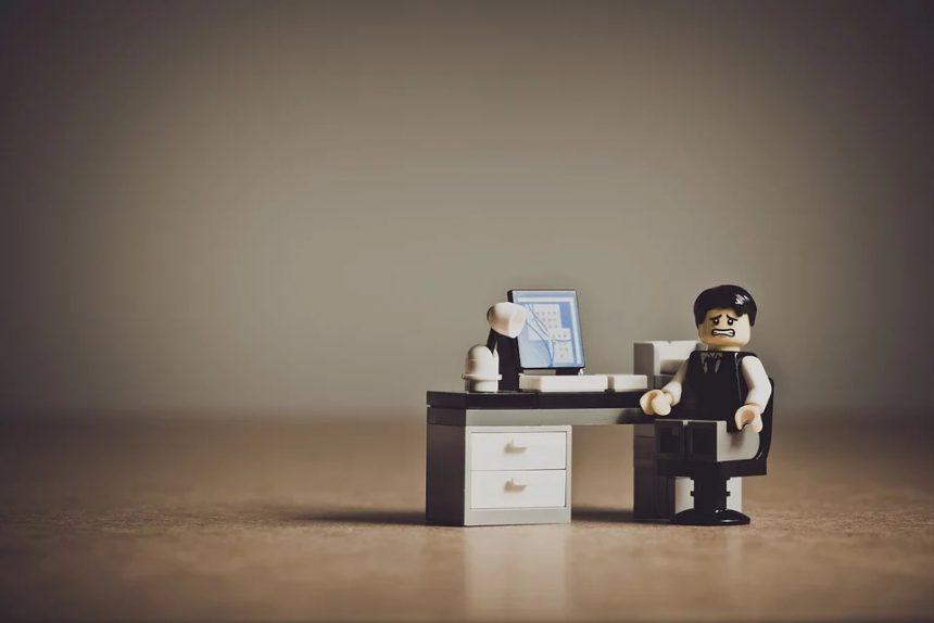 отчаяние, эмоции, лего, стол, офис