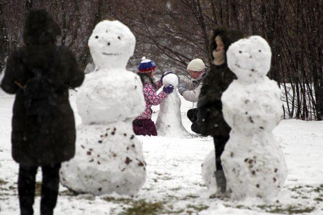 масленица снеговики