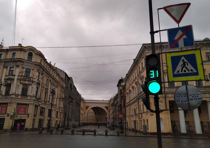 Петербург, Невский проспект, пустые улицы, изоляция, карантин, коронавирус