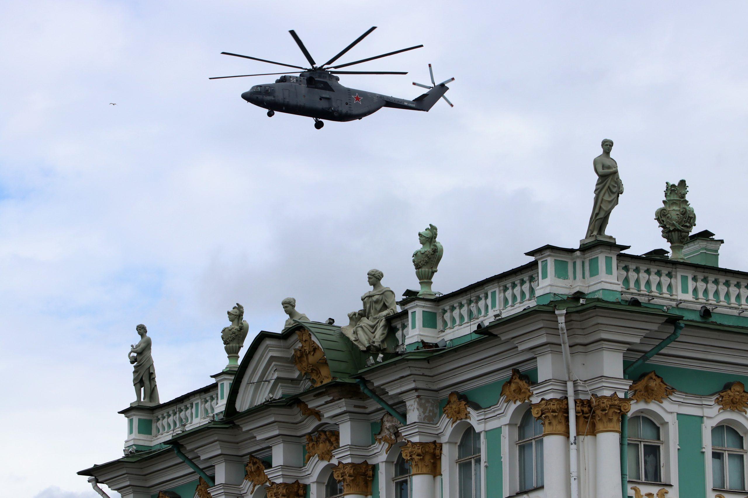 вертолёт, авиация, день победы, репетиция