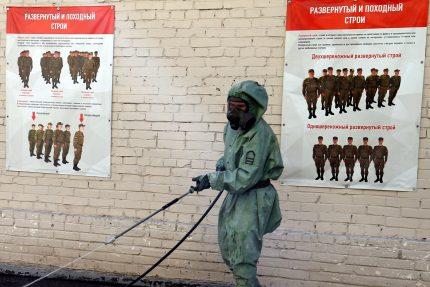 военкомат, сборный пункт, дезинфекция, военные, коронавирус